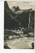 Briksdal Nordfjord Rppc Antique Foto Photo Norway Norge Horse And Cart Stamp 1932