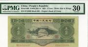 1953 China/ Peopleand039s Republiic 3 Yuan Pmg Very Fine 30