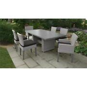 Monterey Rectangular Outdoor Patio Dining Table With 6 Chairs In Black