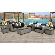Florence 7 Piece Outdoor Wicker Patio Furniture Set 07d In Black