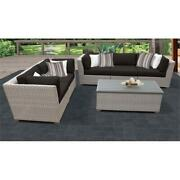 Florence 6 Piece Outdoor Wicker Patio Furniture Set 06p In Black