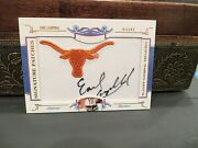 National Treasures Signature Patches Autograph Oilers Earl Campbell 13/50 2008