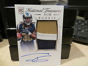 National Treasures Rookie Autograph Jersey Rams Todd Gurley 97/99 2015