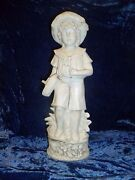 Antique G Dep Germany 11377 Bisque Figure Young Boy With Toy Boat