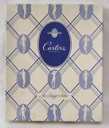 Vintage Carters Womens Vests Clothing Box 1940s Blue And White Graphics