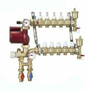 Caleffi Pre-assembled Fixed Point Manifold Mixing Station, 10 Outlets, Thermo...