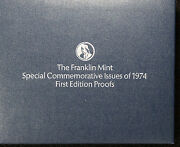 36 1974 Franklin Mint Special Commem First Edition Sterling Silver Proofs
