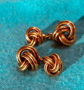 And Co 18k Gold Vintage Cufflinks Signed Deakin And Francis 1970 Mid Century