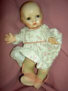 Rare Antique Prosperity Baby Lenci Doll Jointed Cloth Body Sleep Eyes All Orig