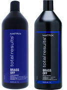 Matrix Total Results Brass Off Shampoo And Conditioner Liter Duo 33.8 Oz Brand New