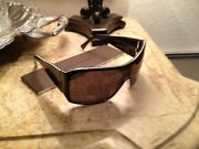 Louis Vuitton Crystal Inlaid Two Tone Sunglasses W/box, Case And Cleaning Cloth