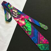 Gianni Versace Multi Color Silk Tie Mix-foulard Print From 1991