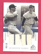 Mickey Mantle / Roger Maris 2001 Sp Game Used Pinstripe Jersey 37/50