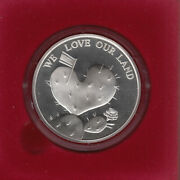 58th Israel Independence Day, We Love Our Land Official Medal 50mm 49g Silver 1