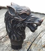 Antique Wolf Head Handle Only For Cane Walking Stick Amazing Vintage Best Gift