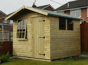 Pinelap Wooden Heavy Tandg Country Cabin Summer House Garden Room Apex Office Shed