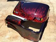 This Paint Job On A Ez Go Golf Cart Body...candy Red Fire W Red Pearl