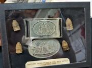 Cw Reproduction Brass Maryland Sword Plate And Keeper Oval Buckle And 4 Bullets Case