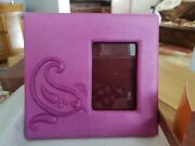 Vintage Etro Milano Purple Leather Picture Frame - New In Box -