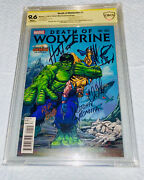 """Death Of Wolverine 1 Signed Herb Trimpe John Romita Sr And Sketch And Rip """" And Soule"""