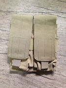 Used Blackhawk Strike Double 5.56 Mag Pouch Coyote Tan Eagle Crye Aor1 Lbt Seal