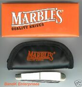 Marbles Cut Pearl Trapper 3 Blade Folding Knife/knives - Mr123 - New In Box