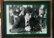 Anatoly Karpov Autographed Original Chess Picture 11 X 15 Framed