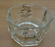 Signed Sporting Dog Training Clear Glass Champagne Wine Bottle Coaster Bowl
