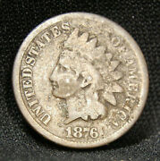 1876 Indian Head Penny With Good Details B