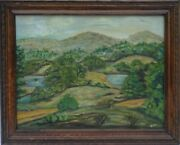L. Hare 19th C. Post-impressionist Landscape Oil Painting W/victorian Frame