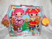 Retired Lalaloopsy Full Size Nib Ember Flicker Flame And Toffee Cocoa Dolls