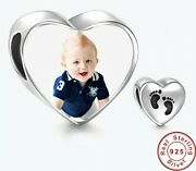 New 925 Sterling Silver Heart Personalized Photo Charms Bracelets Diy Jewelry
