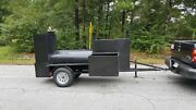 Double Sink Mount Bbq 36 Grill Smoker Trailer Catering Mobile Food Cart Truck