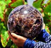 Huge 210mm Natural Auralite 23 Cacoxenite Lepidocrocite Melody Stone Sphere Ball