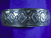 Vintage Pre-owned Native American Sterling Silver Overlay Cuff Bracelets
