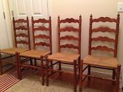 Vintage Tell City 2312 Andover Maple Dining Table And 4 Ladder Chairs Chicago