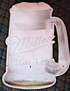 As Is 36 X 27 Vintage Miller High Life Beer Mug Tin Sign - Sun-bleached And Torn