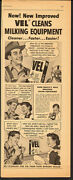 1950and039s Vintage Ad For Vel Detergent`milking Equipment 010814
