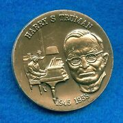 1972 Wittnauer Sterling Silver 40mm Art Round Medal Harry S Truman 1945-1953