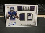 National Treasures Nfl Gear Autograph Jersey Vikings Stefon Diggs 52/99 2015