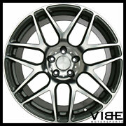 20 Ace Mesh-7 Grey Machined Concave Wheels Rims Fits Ford Mustang Shelby Gt