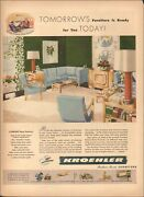 1943 Vintage Ad For Kroehler Furniture`retro Lamps Chair Sofa Books  031519