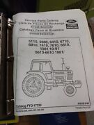 Ford New Holland 5110 5900 6410 6710 6810 7410 Tractor Service Parts Catalog