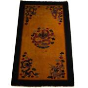 Antique Chinese Peking Oriental Rug 4and0390 X 6and0398