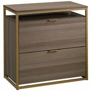 Sauder International Lux 2 Drawer Lateral File Cabinet In Diamond Ash