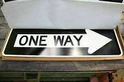 Brand New Genuine D.o.t. One Way Right Street Sign 36 X 12 Case Fresh
