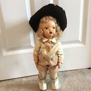 Doll Terri Lee Rare Painted Plastic Cowgirl Jodphurs Mannequin Wig 1940and039s