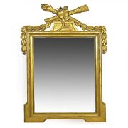 Antique French Mirror  vintage Louis Xvi Wall Pier Mirror Carved Wood Gold Frame
