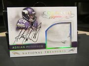 National Treasures On Card Autograph Jersey Vikings Adrian Peterson 2/5 2016
