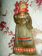 Labeled Antique Russian Wood Whisk Broom Doll Unusual Kitchen Decoration Xlnt